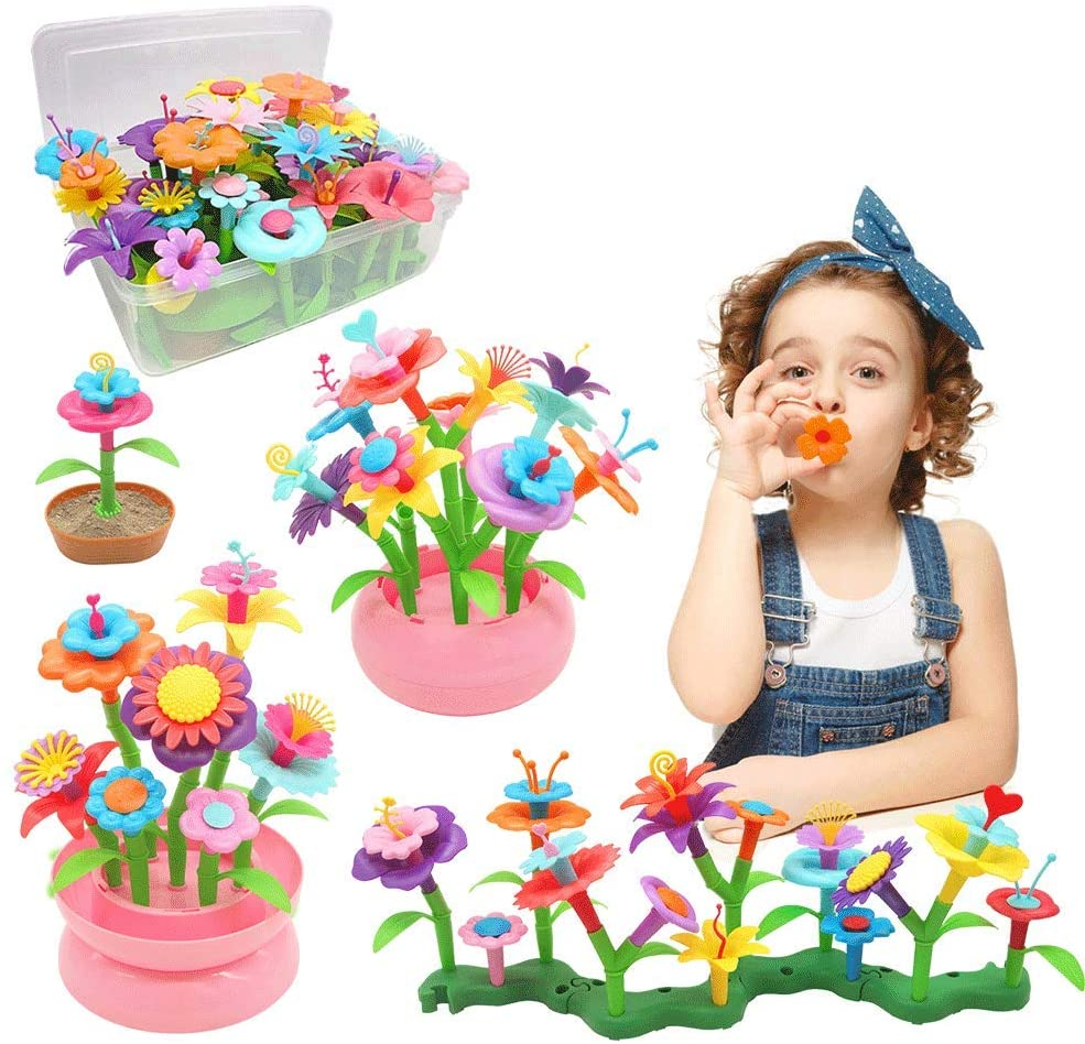 Byserten Flower Garden Building Toys for Girls