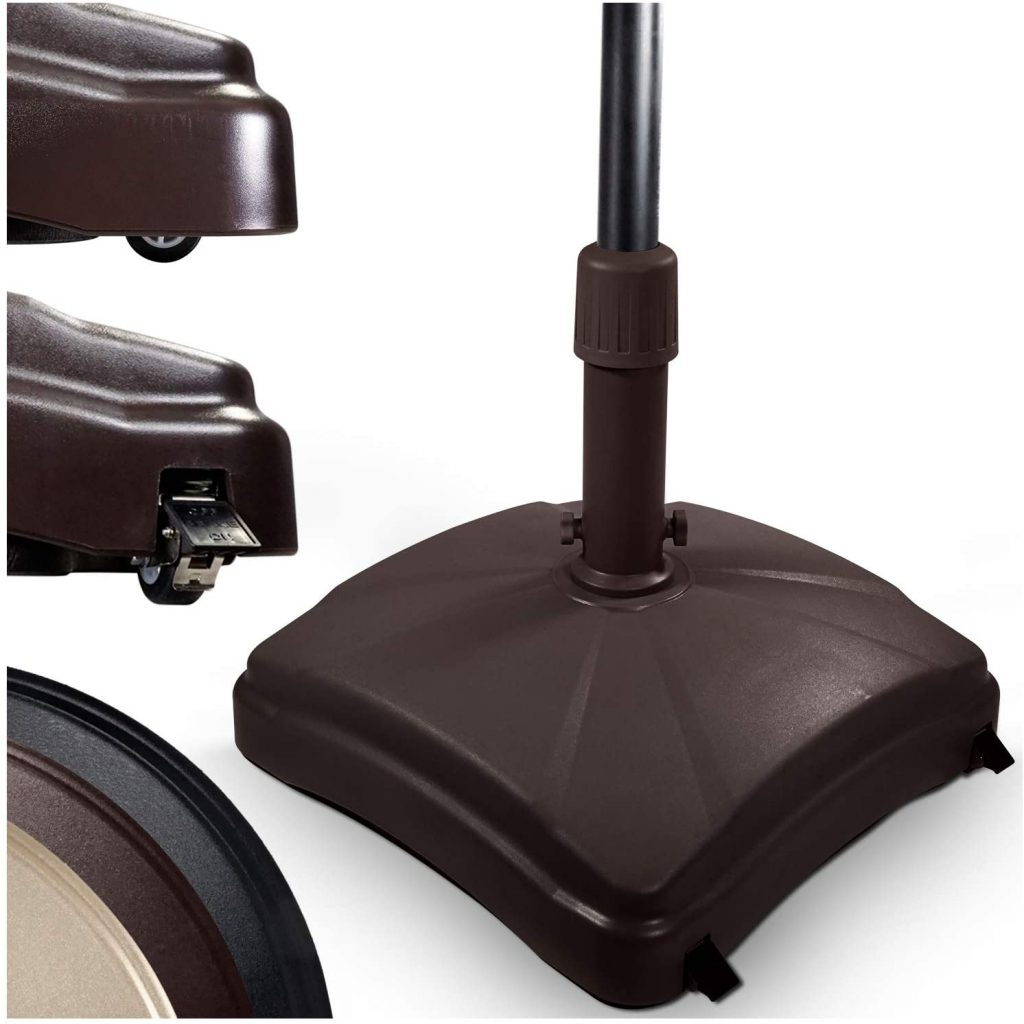 Shademobile Outdoor Umbrella Stand with Easy Rolling Base